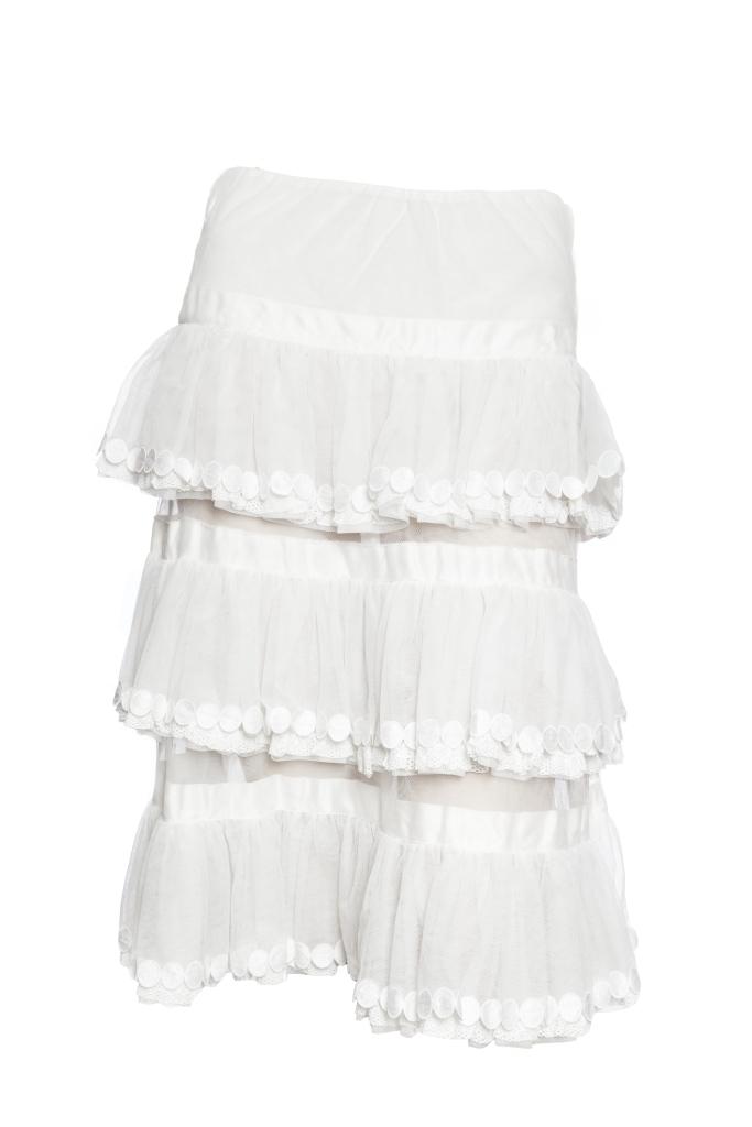 Чудесная кружевная летняя юбка от Chanel, 38 размер.