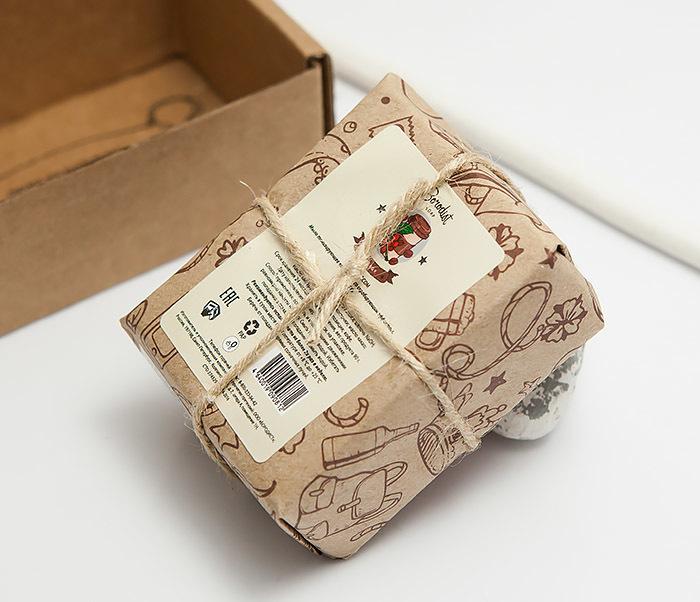 RAZ296 Натуральное мужское кофейное мыло для тела «ENERGY» от Borodist (90 гр) фото 03