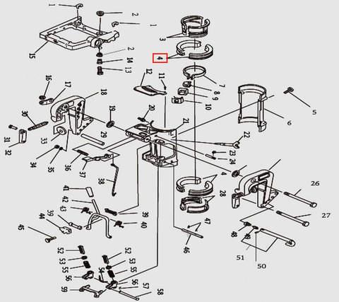 Втулка струбцины разрезная верхняя для лодочного мотора T9.8 Sea-PRO (11-3)