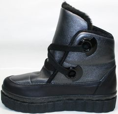 Зимние ботинки на платформе женские Kluchini 13047