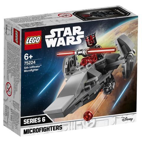 LEGO Star Wars: Микрофайтеры: Корабль-лазутчик ситхов 75224 — Sith Infiltrator Microfighter — Лего Звездные войны Стар Ворз