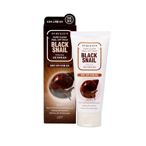 Маска-пленка очищающая с экстрактом слизи черной улитки Jigott Black Snail Pure Clean Peel Off Pack 180мл