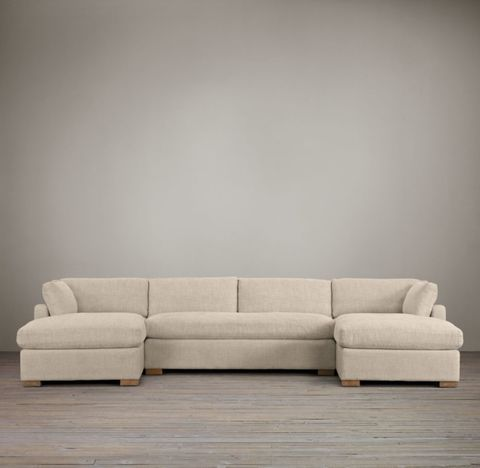 Belgian Slope Arm U-Chaise Sectional