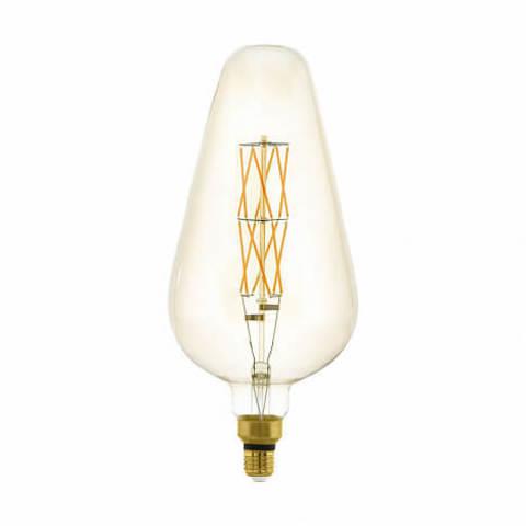 Лампа LED филаментная диммируемая из стекла янтарного цвета Eglo BIG SIZE LM-LED-E27 8W 600Lm 2100K D165 11838