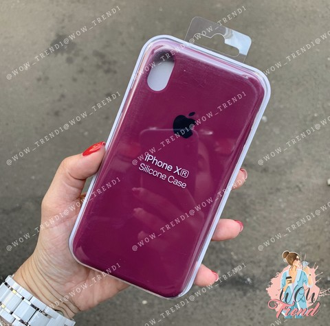 Чехол iPhone XR Silicone Case /marsala/ марсал 1:1