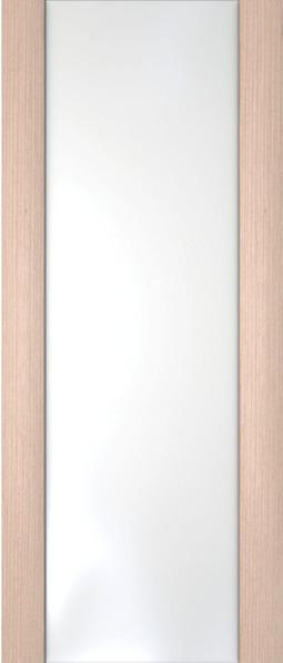Ладора,3-3, Орех капучино - Белое стекло