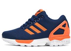 Кроссовки Женские Adidas ZX Flux Navy Orange White
