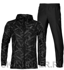 Ветрозащитный костюм для бега Asics Fuzex Packable 2018 Woven black мужской