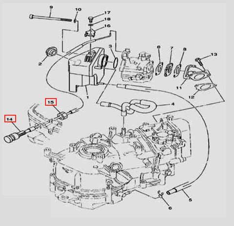 Трос подсоса в сборе L=37mm L=427mm для лодочного мотора F5 Sea-PRO(6-14/15)