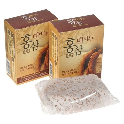 Miso Red Ginseng Scrub Soap