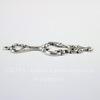 Винтажный декоративный элемент - подвеска 42х17 мм (оксид серебра)