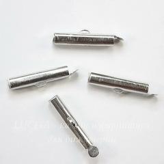 Концевик - трубочка 20х4 мм (цвет - платина), 4 штуки