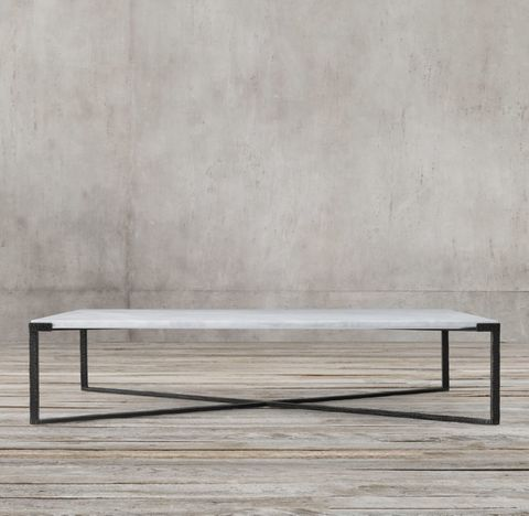 Cannon Forged Iron Rectangular Coffee Table