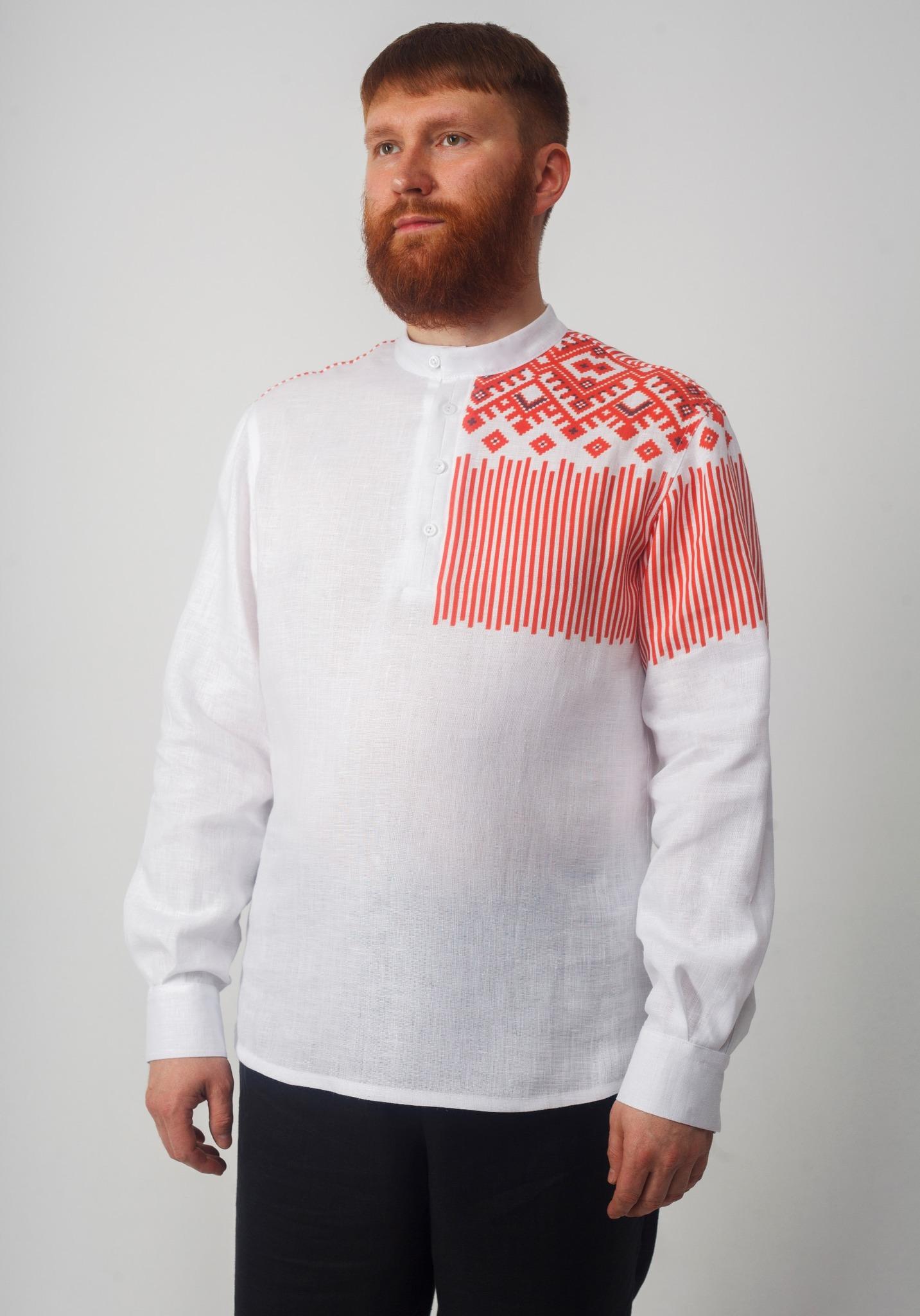 Рубашка мужская Русская полубоком