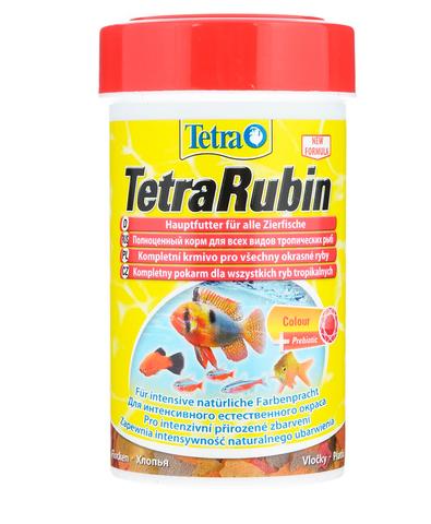 TetraRubin корм в хлопьях для улучшения окраса всех видов рыб 250 мл