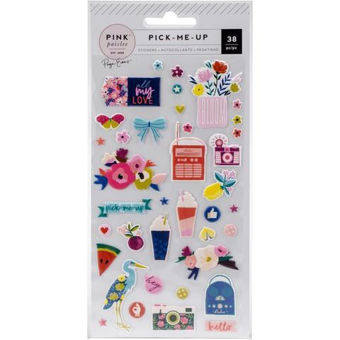 Стикеры  обьемные- Pick Me Up от Pink Paislee -10х20 см- 38шт