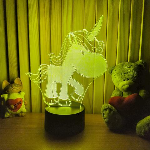 3D светильник Единорожка