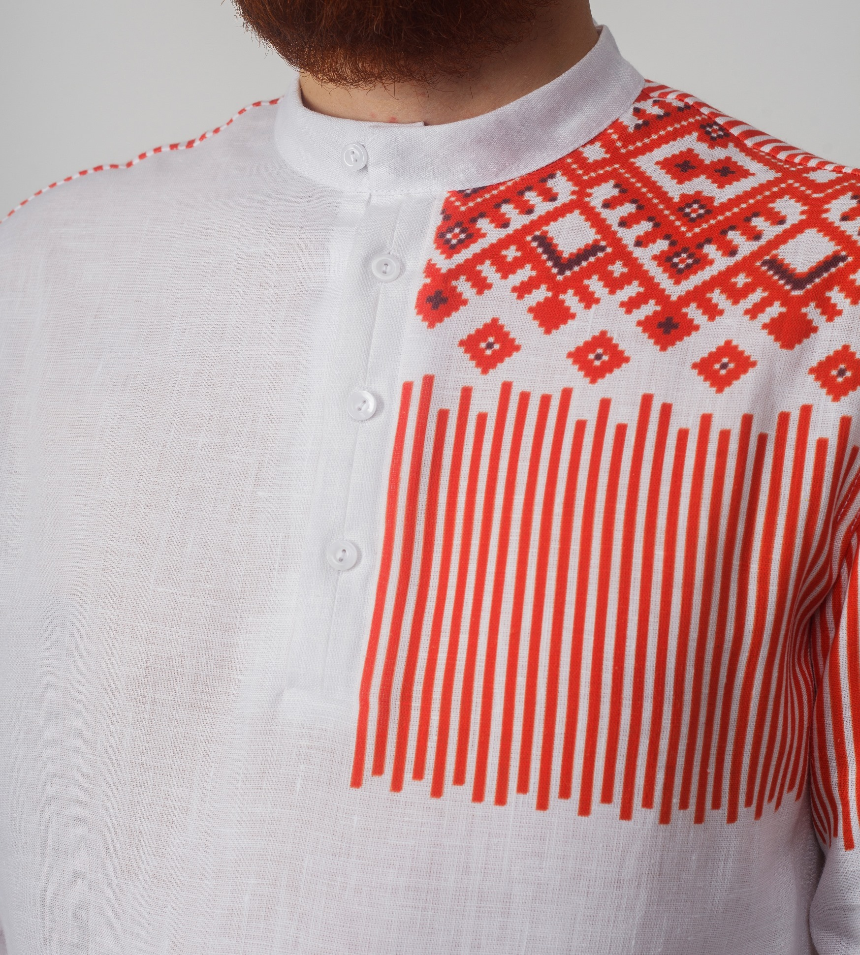 Рубашка мужская Русская приближенный фрагмент