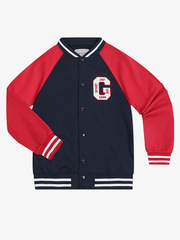 BAC004901 Пиджак для мальчиков, тем.синий/красный