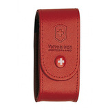 Чехол Victorinox для 91мм толщина 5-8 ур кожа красный (4.0521.1)