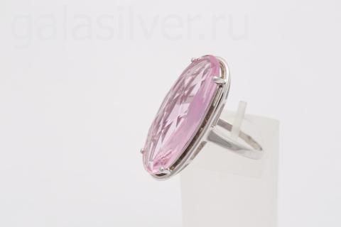 Кольцо с розовым морганитом из серебра 925