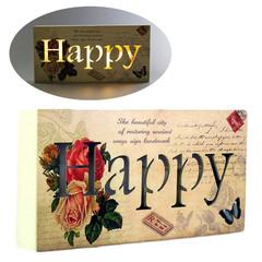 панно «happy» 24x3x12 см,  с подсветкой