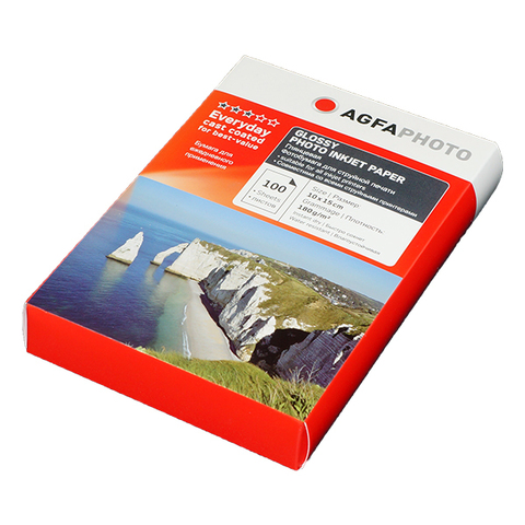 Фотобумага AGFA Premium 4R (10x15) Глянцевая 180g 100 листов Пакет