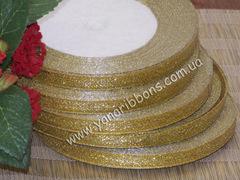 Лента парча золотая шириной 6 мм