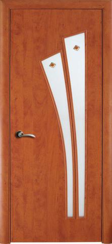 Дверь Сибирь Профиль Лагуна (С-7ф) фьюзинг, фьюзинг, цвет итальянский орех, остекленная