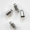 Концевик для шнура 4,5 мм, 9х5 мм (цвет - платина), 4 штуки