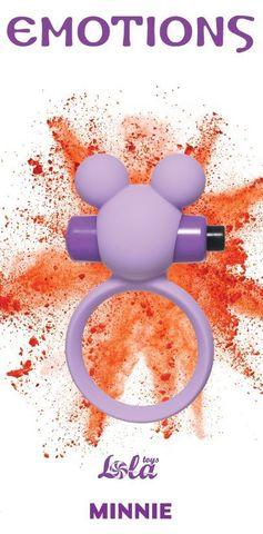 Сиреневое эрекционное виброколечко Emotions Minnie
