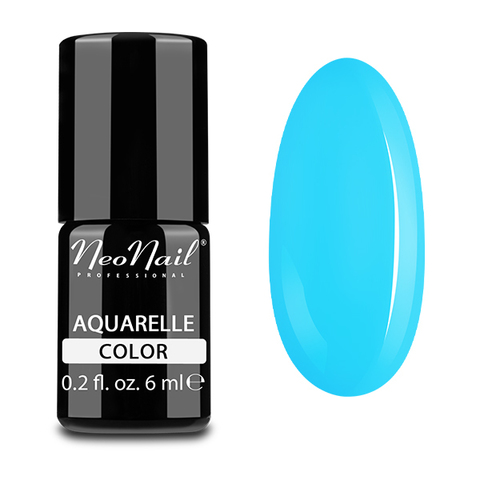 NeoNail Гель-лак акварельный UV 6ml Blue Aquarelle №5512-1