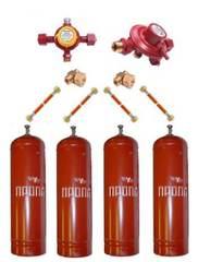 Газобаллонная система GOK (стандарт) для подключения 4 металлических баллонов