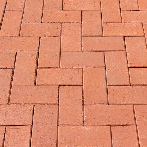 ЛСР, RAUF Design, Красный Лондон, 200x100x50 - Клинкерная тротуарная брусчатка