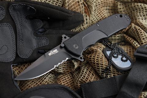 Складной нож Nemesis D2 Black Titanium