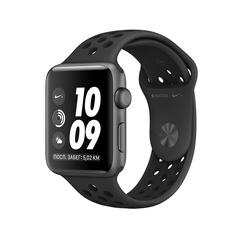 Часы смарт Apple Watch  Nike+ 38 мм из алюминия цвета «серый космос», спортивный ремешок Nike цвета «антрацитовый/чёрный» - Серия 3 (MQKY2)