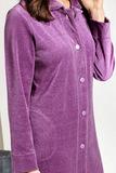 Сиреневый халат из велюра Taubert