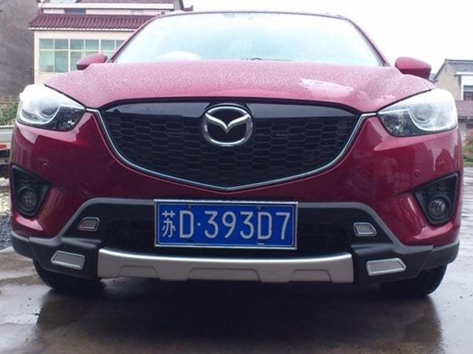 Накладка на передний бампер OEM-Tuning CNT35-CX5-001 для Mazda CX-5 (2015 - 2017) car styling for mazda cx 5 taillight assembly 2011 2015 cx5 led tail light new cx 5 led rear lamp drl brake with hid kit 2pcs