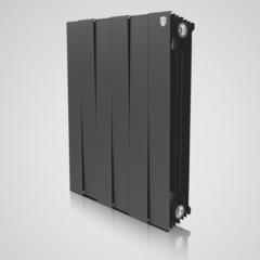Радиатор биметаллический Royal Thermo PianoForte Noir Sable (черный)  - 8 секций