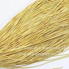 Канитель для вышивания мягкая 1 мм (цвет - желтое золото)