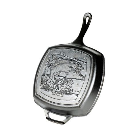 Сковорода-гриль чугунная с лого Рыба, артикул L8SGPWLFI