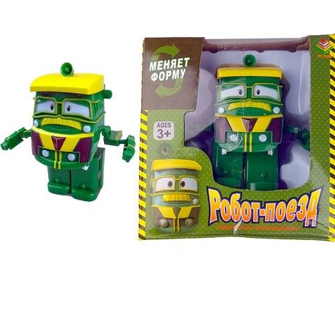 Игрушка Robot Trains  в индивидуальной упаковке JEFFPEY (зеленый) 1кор*1бл*1шт