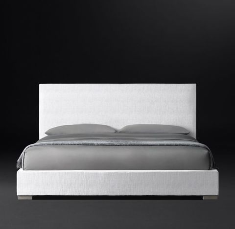 Modena Panel Non-Tufted Fabric Platform Bed