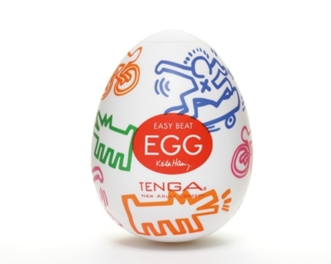 Мастурбатор яйцо Easy beat Tenga Egg & Keith Haring