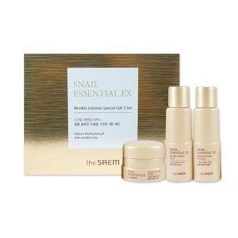 Набор уходовый антивозрастной The Saem Snail Essential Ex Wrinkle Solution Special Gift 3 Set