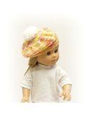 Вязаный берет - На кукле. Одежда для кукол, пупсов и мягких игрушек.
