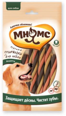 Мнямс Мясные спиральки для собак ассорти