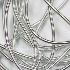 Канитель для вышивания мягкая 1 мм (цвет - матовое серебро)