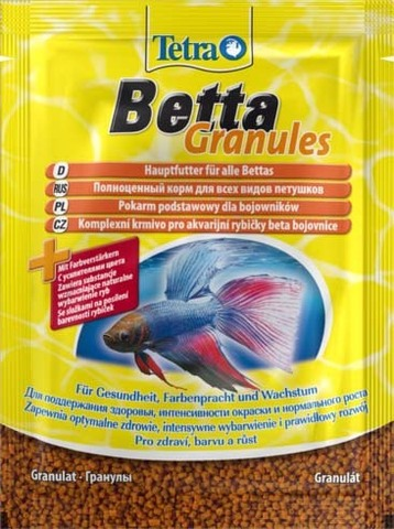 Tetra Betta Granules (гранулы) Корм для лабиринтовых рыб (Германия) 5г