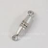 Винтажный элемент - замок винтовой 17х3,5 мм (оксид серебра)